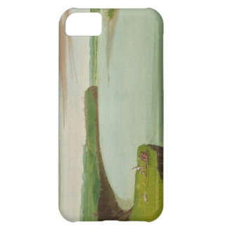 George Catlin - Distant View of the Mandan Village iPhone 5C Covers