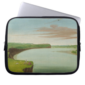 George Catlin - Distant View of the Mandan Village Computer Sleeve