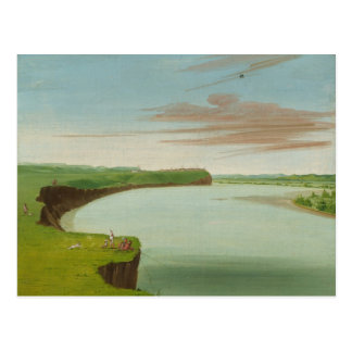 George Catlin - Distant View of the Mandan Village Postcard