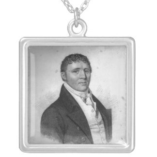 George Cooper, engraved by Percy Roberts Square Pendant Necklace
