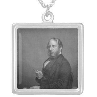 George Cruikshank Esq Square Pendant Necklace