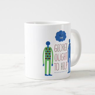 George debe ayudar a la taza enorme taza jumbo