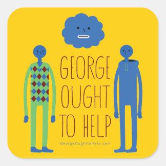 George debe ayudar al pegatina