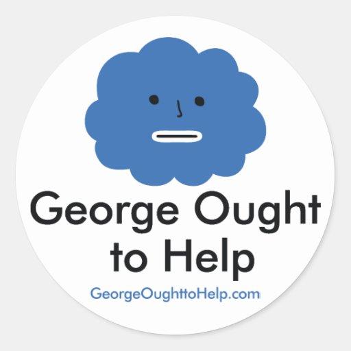 George debe ayudar al sistema del pegatina
