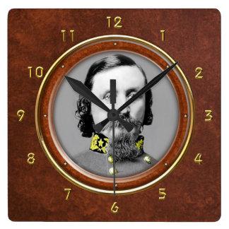 "George E. Pickett 10,75"" Reloj Cuadrado"