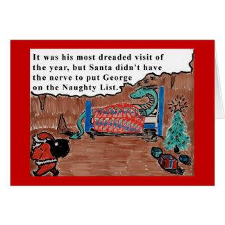 George el dragón tarjeta de felicitación