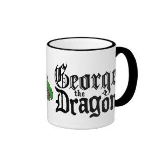 George el dragón taza de dos colores
