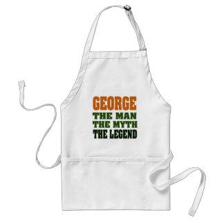¡George - el hombre, el mito, la leyenda! Delantal