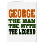 ¡George - el hombre, el mito, la leyenda! Tarjetón