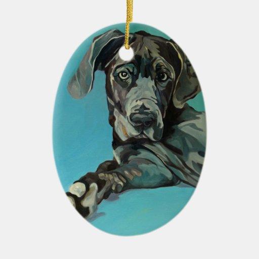 George el ornamento del retrato del perro de great ornamentos para reyes magos