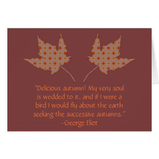George Eliot Autumn Quote Card