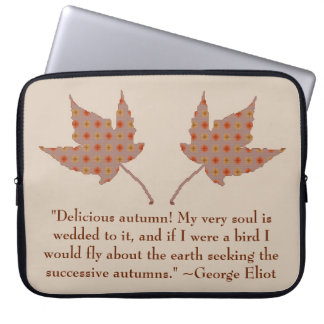 George Eliot Autumn Quote Laptop Sleeve