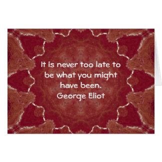 George Eliot Inspirational Motivational Quotation Card