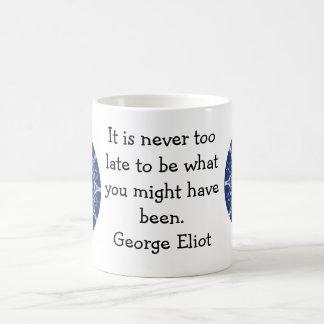 George Eliot Inspirational Motivational Quotation Classic White Coffee Mug