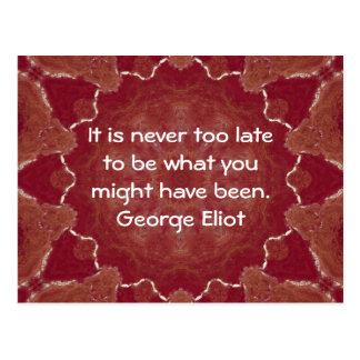 George Eliot Inspirational Motivational Quotation Postcard