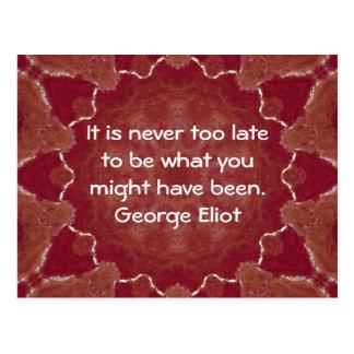 George Eliot Inspirational Motivational Quotation Postcard