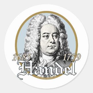 George F. Handel Round Stickers