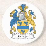 George Family Crest Beverage Coaster