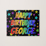 "[ Thumbnail: ""George"" First Name, Fun ""Happy Birthday"" Jigsaw Puzzle ]"