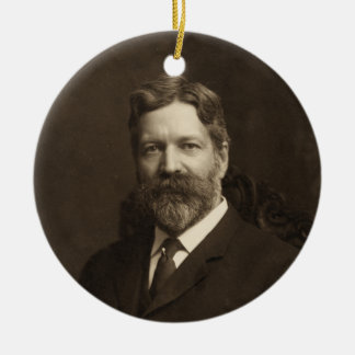 George Foster Peabody by the Pach Brothers Ceramic Ornament