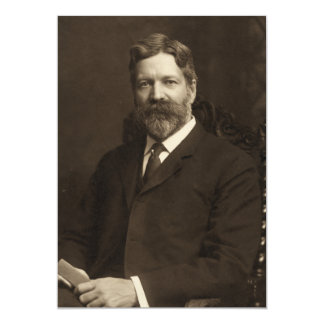 """George Foster Peabody by the Pach Brothers 5"""" X 7"""" Invitation Card"""