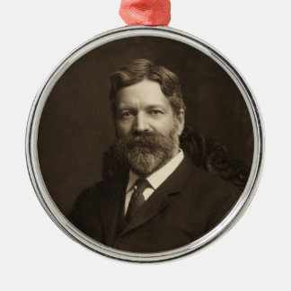 George Foster Peabody by the Pach Brothers Metal Ornament