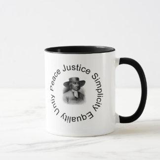 George Fox quaker mug