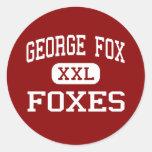 George Fox - zorros - centro - Pasadena Maryland Pegatina Redonda