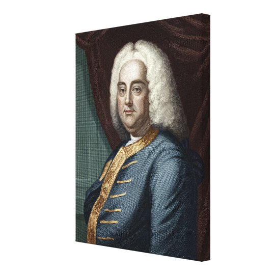 George Frederic Handel, engraved by Thomson Canvas Print