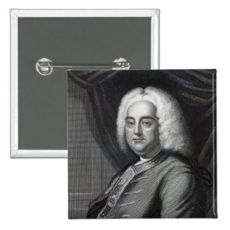 George Frederic Handel, engraved by Thomson Pinback Button