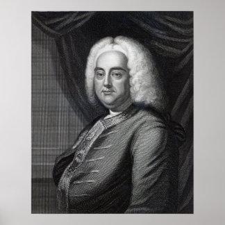 George Frederic Handel, engraved by Thomson Print