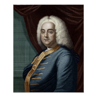 George Frederic Handel, engraved by Thomson Posters