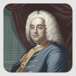 George Frederic Handel, engraved by Thomson Square Sticker