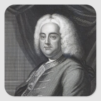 George Frederic Handel, engraved by Thomson Square Stickers