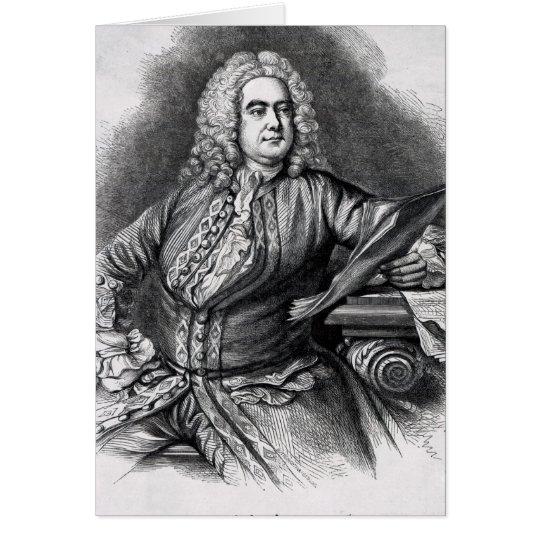 George Frederick Handel, 1749 Card