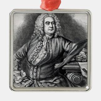 George Frederick Handel, 1749 Metal Ornament