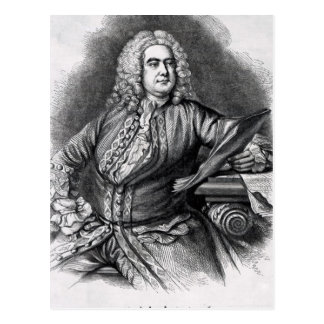 George Frederick Handel, 1749 Postcard