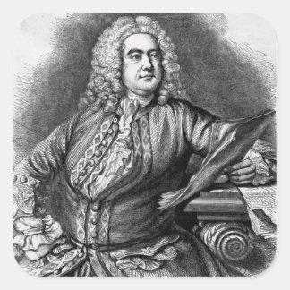 George Frederick Handel, 1749 Square Sticker