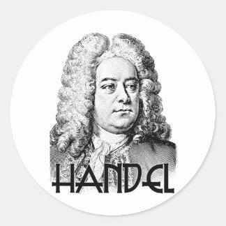 George Frideric Handel Round Sticker
