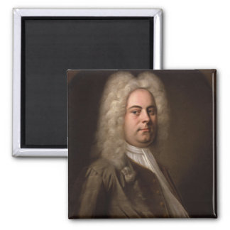 George Frideric Hanel by Balthasar Denner 2 Inch Square Magnet