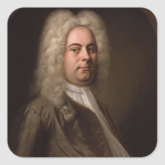 George Frideric Hanel by Balthasar Denner Square Sticker