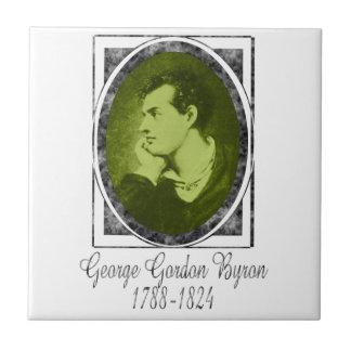 George Gordon Byron Azulejo Cuadrado Pequeño