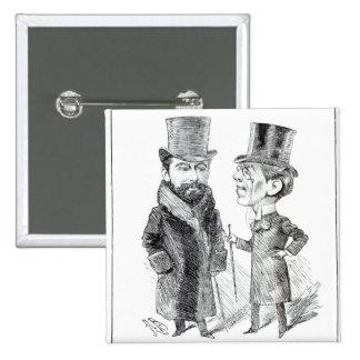 George Grossmith Jnr. and Richard D'Oyly Carte Pins