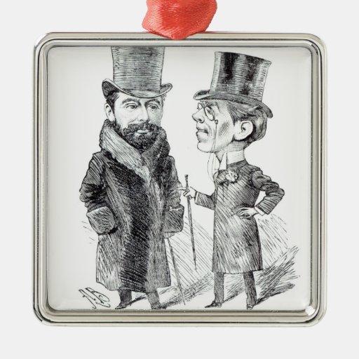 George Grossmith Jnr. and Richard D'Oyly Carte Ornament