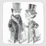George Grossmith Jnr. and Richard D'Oyly Carte Square Sticker
