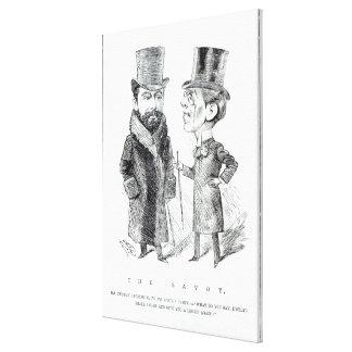 George Grossmith Jnr. y Richard D'Oyly Carte Lona Estirada Galerias