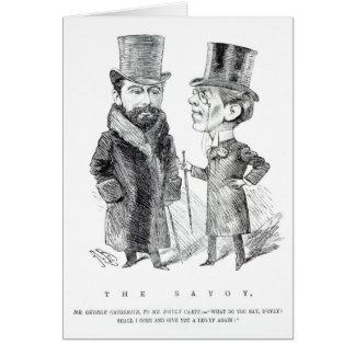 George Grossmith Jnr. y Richard D'Oyly Carte Felicitación