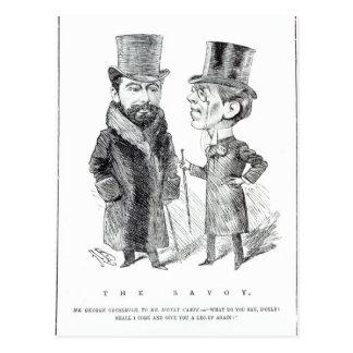 George Grossmith Jnr. y Richard D'Oyly Carte Tarjeta Postal