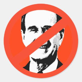 George H Bush Etiqueta Redonda