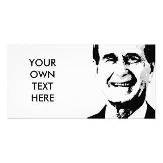 George H Bush Photo Card